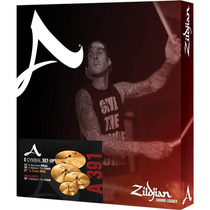 Set Prato Zildjian Avedis14hh-16crash-18 Crash-21 Ride