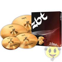 Kit Pratos Zildjian Zbt Five Zbtp390-a 14/16/18/20 Kadu Som