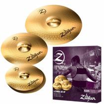 Kit De Pratos Zildjian Planet Z - Plz4pk - 14hh+16crash+20ri