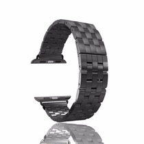 Pulseira Metal Apple Watch 38mm Inox Stainless Preta