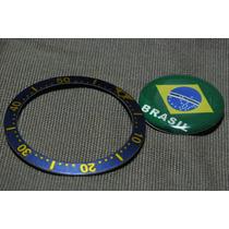 Aro Relógio Technos 2115-03 Azul E Dourado