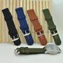 Pulseira Nylon 18mm Verde Militar Frete 10