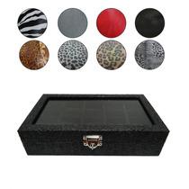 Caixa Estojo De Luxo Porta 10 Relógios - Couro Sintético