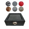 Caixa Estojo De Luxo Porta 6 Relógios - Couro Sintético