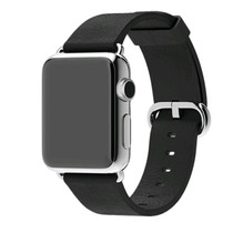 Pulseira Apple Watch Black Classic Buckle 42mm - Couro