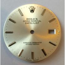 Mostrador Dial Rolex Datejust Aço Original 16030 16200