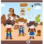 Kit Scrapbook Digital Cowboy Vaqueiro Imagens Clipart