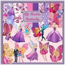 Kit Para Scrapbook Digital Barbie Butterfly