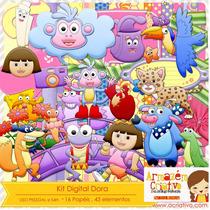 2 Kits Scrapbook Dora Aventureira-frete Gratis