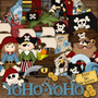 Kit Digital Os Piratas . Scrapbook Patchwork Decoupage