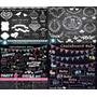 12 Kit Chalkboard -scrapbook Digital - Lousa/giz/quadro Negr