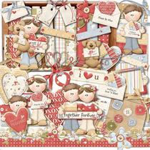 Kit Scrapbook Digital - Dia Dos Namorados