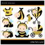 Kit Digital Scrapbook Baby Bee , Abelinha Abelha Bebê