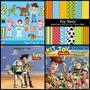 08 Kits Scrapbook Digital Toy Story + 150 Bordas Em Png.