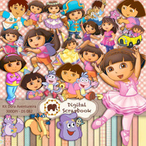 Kit Scrapbook Digital - Dora Aventureira (diego Go)