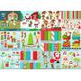 Pacote Com 100 Kits Digitais Tema Natal