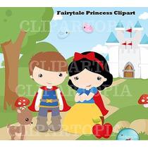 Kit Scrapbook Digita Princesa Branca De Neve Imagens Clipart