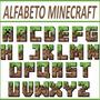 Letras Alfabeto Minecraft Silhouette E Corte Manual + Brinde
