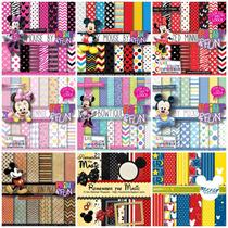 Mega Kit Scrapbook Digital Minnie E Mickey - Scrap Festa