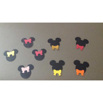 70 Apliques Scrap Festa ¿ Minnie/ Mickey ¿ Laço Ou Gravata