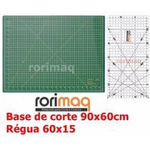 Kit Base De Corte 90x60cm + Régua 60x15cm Patchwork Scrapboo
