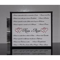 Album Fotos Scrapbook Casal Namorados Personalizado C/ Nome
