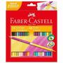 Lápis De Cor 48 Cores Redondo 24 Bicolor Faber Castell