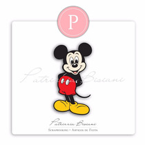 50 Recortes Apliques Mickey Papel Glossy 240g Lembrancinha