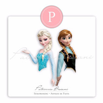 50 Toppers Bustos Frozen 25 Anna + 25 Elsa Papel Glossy 240g