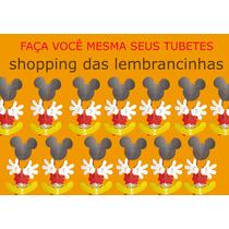Kit Recortes Para Tubete Mickey Com 60 Peças Só R$ 7,00