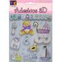 Kit C/ 3 Cartelas Adesivo 3d Scrapbook Bebê Menino Toke Crie