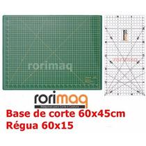 Kit Base De Corte 60x45cm + Régua 60x15cm Patchwork Scrapboo