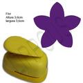 Furador Scrapbook Flor Hibiscus Corte 3,6cm Papel