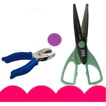 Kit C/ Perfurador Alicate 6mm + Tesoura Artesanal Rio Tec