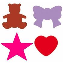 4 Furadores P/ Eva 1,5cm - Urso Estrela Coracao Laço