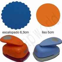 Furador Círculo Escalopado 6,3cm + 5cm + Círculo Liso 5cm