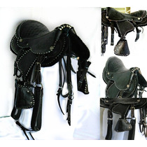 S17 Sela Americana Completa Infantil Couro P/ Ponei Cavalo