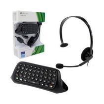 Chatpad Para Xbox 360 Com Fone De Ouvido