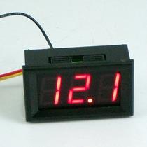 Voltímetro Digital Automotivo 4,5v A 30v Bateria De Carro