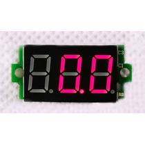 Mini Voltímetro 0-200 Volts-monitor De Baterias.