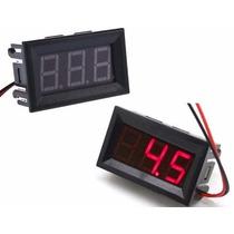 Voltímetro Digital Medidor Bateria Som Automotivo C/ Moldura
