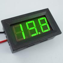 Voltimetro Digital Medidor Bateria Moldura Verde Menor Frete