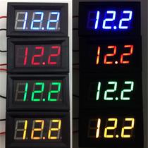 Kit 05 Voltímetros Led Remote 100v Bateria Som Automotivo