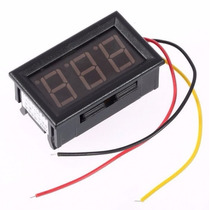 0-100v Medidor Bateria Voltímetro Digital Automotivo