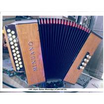 Acordeon Minuano De Botão 8 Baixos/21 Diatônico 2º De Voz .
