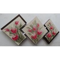 Quadros Abstratos Telas Painel Com Textura