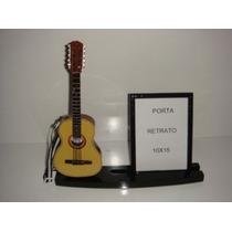 Porta Retrato 10x15 Com Miniatura De Viola Caipira 10 Cordas