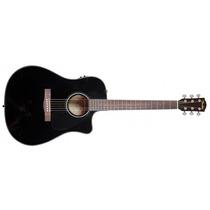 Violão Fender Dreadnought Com Case New Cd60ce Preto Loja !!