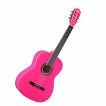 Violao Acustico Nylon Iniciantes Pink Memphys Tagima Ac39