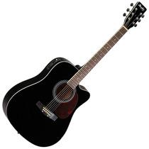 Violão Folk Memphis Cutaway ? Cordas Em Aço Md-18 Cor Preto